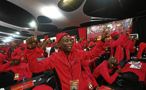 Party line: 13/07/2017. South African Communist Party delegates at the party's congress in Boksburg recently. The party will formally notify the ANC on Monday that it will contest future elections.The Times