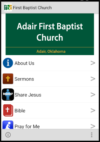 Adair First  Baptist Church- screenshot