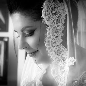 bride by Alisa Andra - Black & White Portraits & People ( holiday, wedding photography, black and white, bride,  )