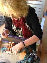 Photo: deb has a 5 day retreat and learns to thread using the saori cross holder