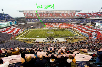 Photo: Our seats .. & .. Card Stunt