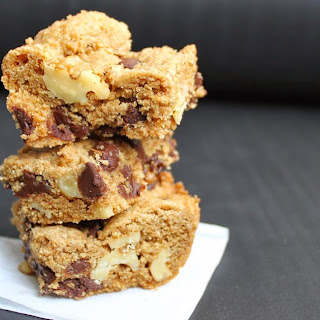 Whole Wheat Dark Chocolate Chip Cookie Bars