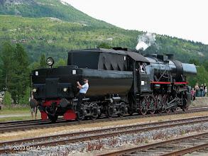 Photo: Norwegian Railway Club's steam engine type NSB 63a 2770 at Bjorli st.