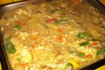 Funeral Chicken and Rice Casserole