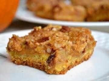 Pumpkin Cake Bars