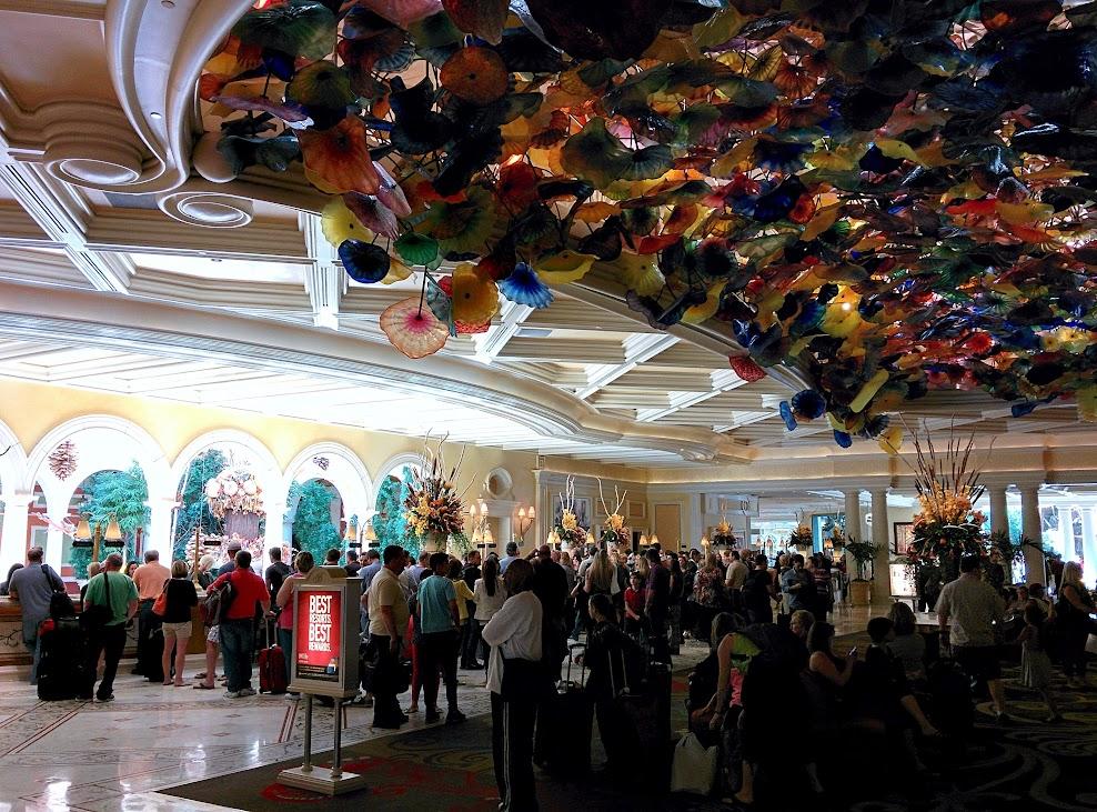 Las Vegas, recepción del hotel Bellagio
