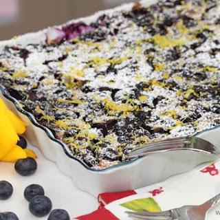 Blueberry Limoncello Clafouti