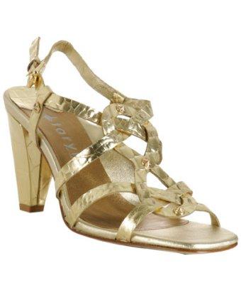 gold print leather 'Glam' woman sandals