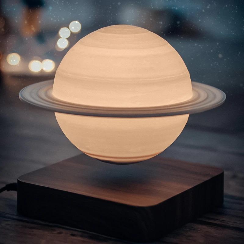 Magnetic Levitating Moon Floating Light Lamp Suspension Earth Saturn Jupiter