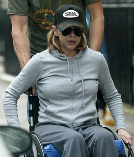 Leslie Ash Wheelchair