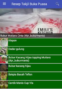 Resep Takjil Buka Puasa - náhled
