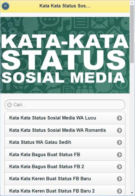 Kata Kata Status Media Sosial Android Apps Appagg