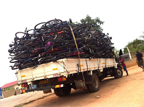 Photo: BfW bikes heading to Upper East Region for training session