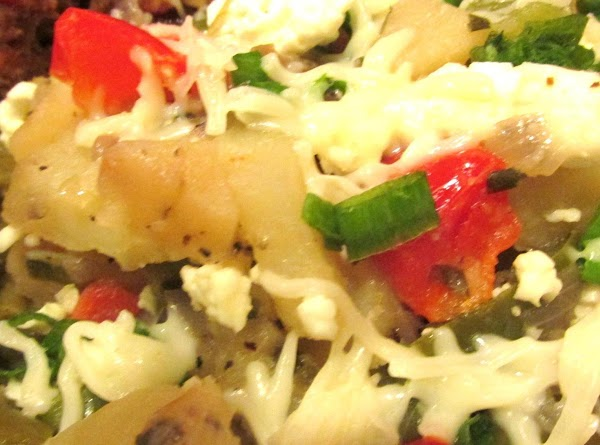 Feta Potatoes With Chive & Sweet Peppers Recipe