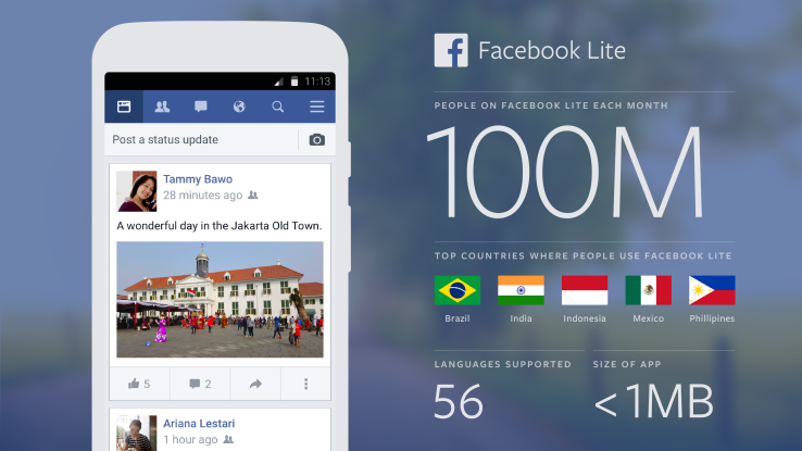 Sử dụng phiên bản thu nhỏ Facebook lite cho thiết bị hoạt động chậm chạp của bạn