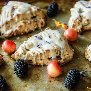 Blackberry Cherry Lavender Scones (gluten free and vegan).