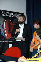 Photo: The EEE 2008 in Mira, Italy (Photo by AIPC). Dr, Jan Schlauer talking at the awards show.