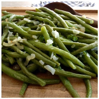 Sautéed Green Beans and Onions