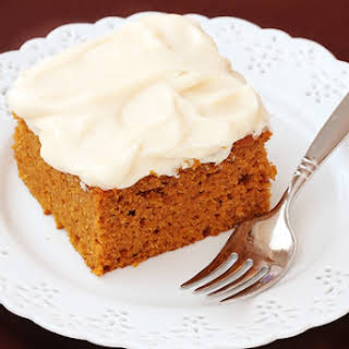 Pumpkin Pie Bars with Cream Cheese Frosting.