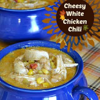 Cheesy White Chicken Chili.