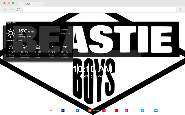 Beastie boys pop band HD new tab page theme