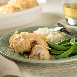 Cheddar-Stuffed Chicken in Phyllo.