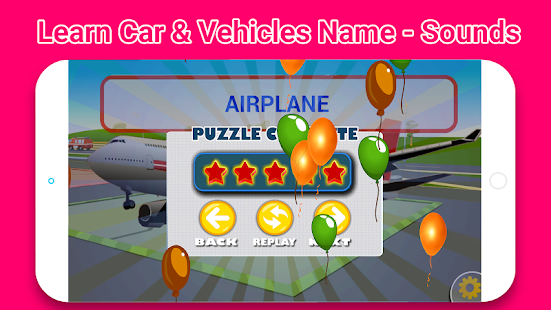 Top Learn Car & Vehicles Name -Sounds for Toddlers- screenshot thumbnail