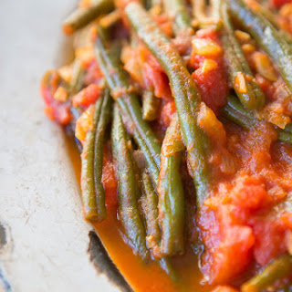 Turkish Stewed Green Beans.