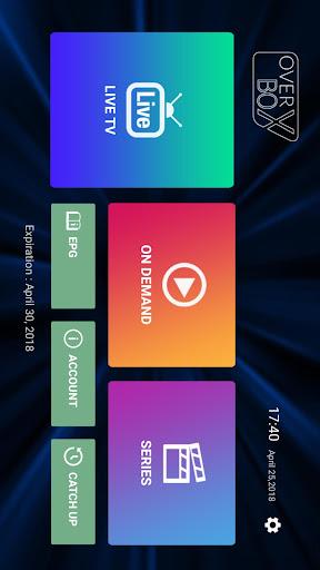 OverBox IPTV screenshot 1