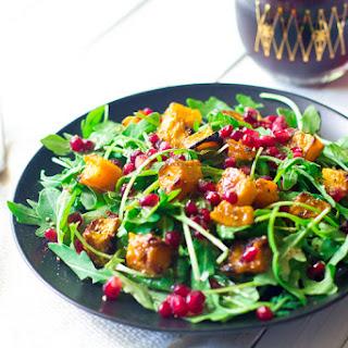 Wintertime Arugula and Roasted Butternut Squash Salad