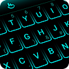 Simple Neon Blue Future Tech Keyboard Theme