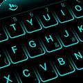 Simple Neon Blue Future Tech Keyboard Theme download