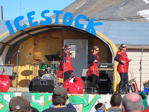 Photo: One of the bands at McMurdo station's New Year's Eve bash.