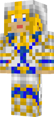 Gold and blue knight