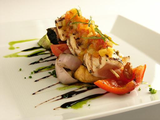 Aria-food - Aria's dining room serves seasonal cuisine prepared with fresh local ingredients.