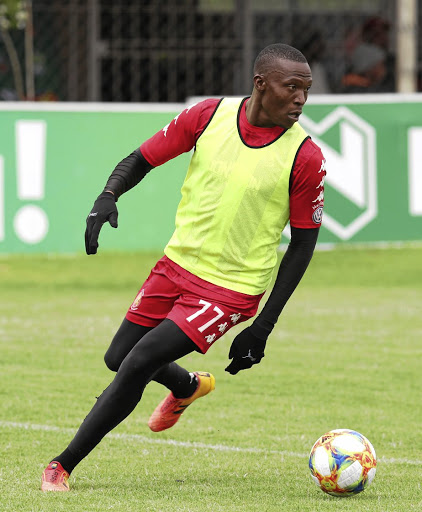 Tendai Ndoro of Highlands Park is looking forward to facing CT City. /Muzi Ntombela/BackpagePix