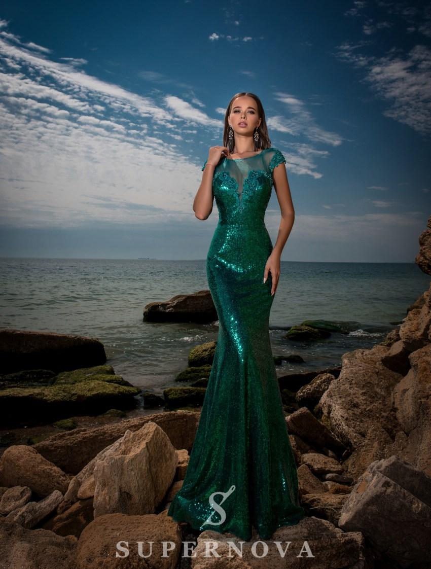 Блестящее вечернее платье оптом
