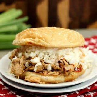 Crock pot Pulled Pork Sandwich.