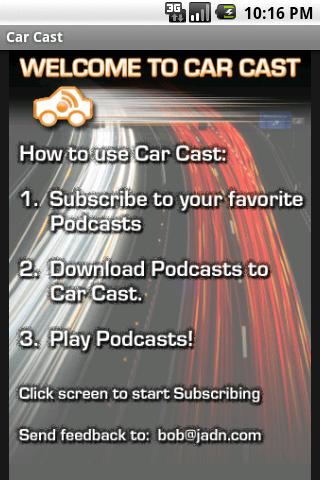 Car Cast Podcast Player screenshot 1