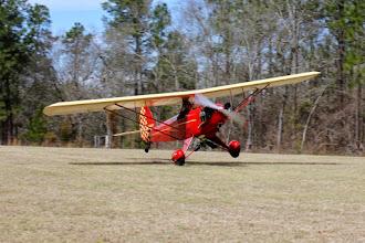 Photo: One wheel happy feet landing.