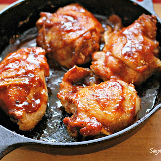 Skillet BBQ Chicken Thighs