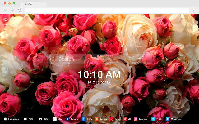 Rose New Tab Page Popular Flowers HD Theme