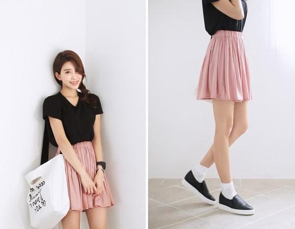 Váy hồng mang giày màu gì 1