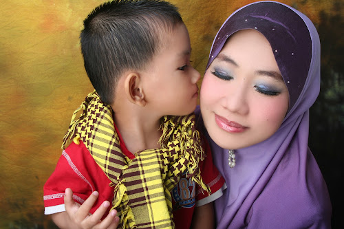 Mother and Son by Mohd Khairil Hisham Mohd Ashaari - People Family ( mother, son, happy, family, forever, together,  )