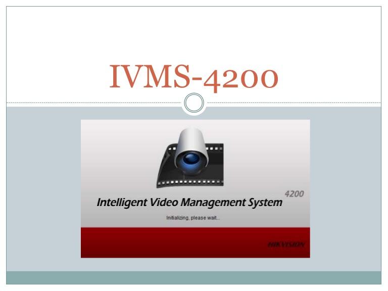 Phần mềm iVMS 4200 của HIKVision