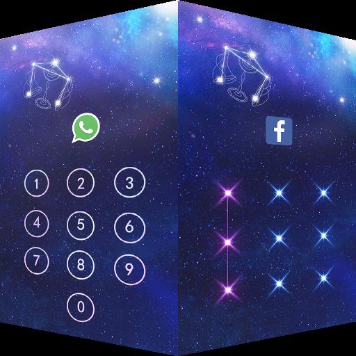 商业のアプリロックテーマ天秤座 プライバシーのセキュリティを保護 LOGO-記事Game