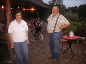 Photo: Elisabeth Stohler und der Veranstalter Mathias  Scholer