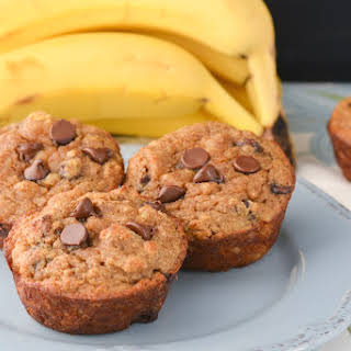 Chocolate Chip Coconut Flour Banana Bread Muffins.