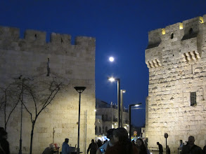 Photo: Moonrise at Jaffa Gate