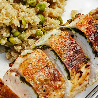 Herb, Cheese And Lemon-stuffed Chicken Breasts.